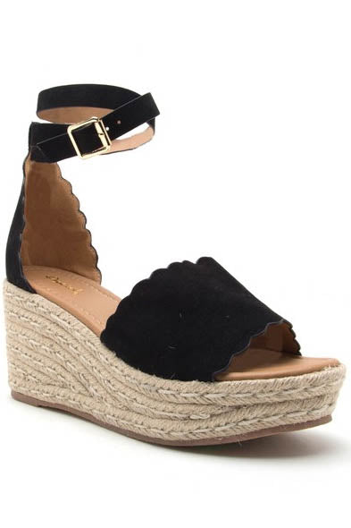Oyster Bay Espadrille Wedges