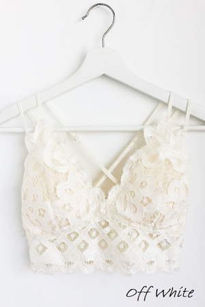 Rosarita Lace Bralette Off White