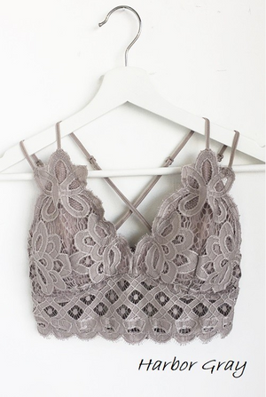 Rosarita Lace Bralette Harbor Grey