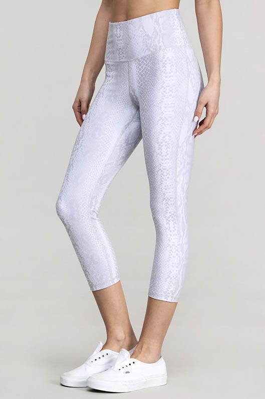 Slinky Snake High Waist Cropped Leggings