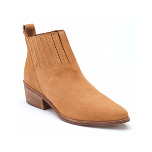 Sophea Tan Leather Ankle Bootie