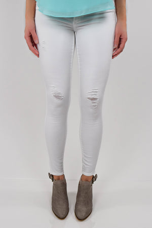 St. Moritz Distressed White Skinny Jeans product