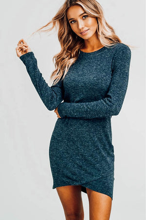 Stephanie Petal Hem Knit Dress