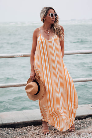 You're the Sunflower Striped Maxi Dress Full
