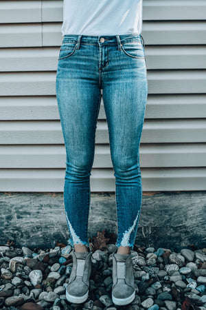 Suzy Elden Distressed Hem Jeans