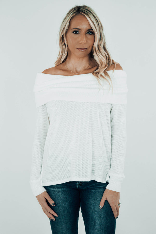 Tahoe Terrain Thermal Off-Shoulder Top