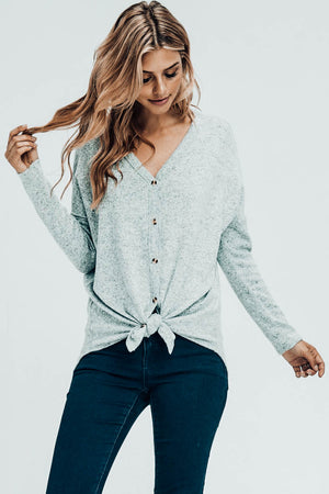 Take It Easy Tie-Front Top
