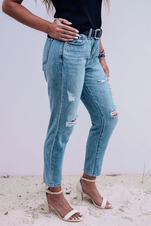 Taylor Distressed + Relaxed Mom Jeans