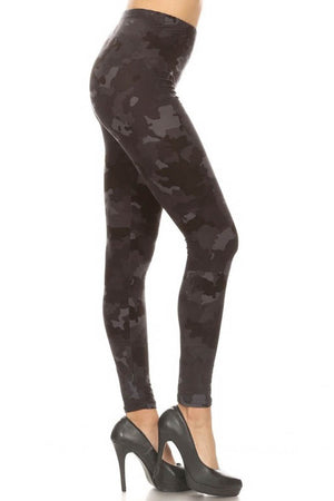 The Softest Leggings - Blackout Camo