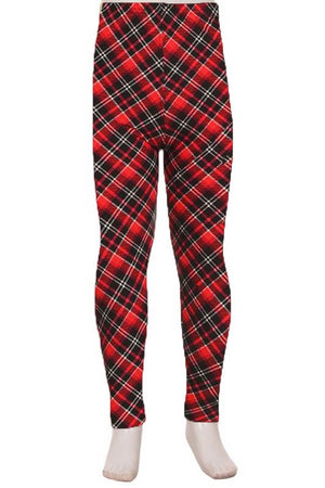 The Softest Leggings for Kiddos - Perfectly Plaid