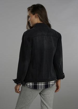 Torrance Black Denim Jacket back view
