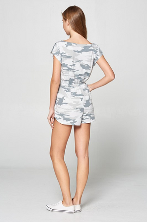 Under the Radar Grey Camo Romper