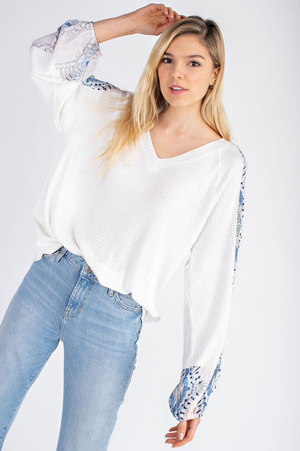 Watch Her Fly Boho Sleeve Top