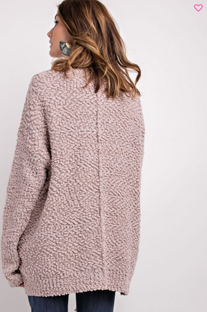 Weekend Casual Button-Front Popcorn Cardigan back view