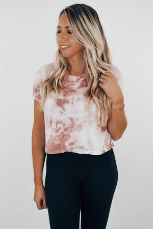 Whiskey Rose MomCrop Tee