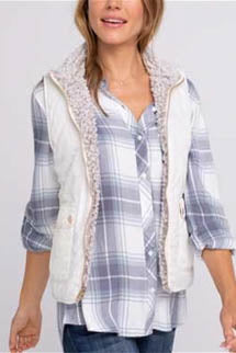 Park City Sherpa Lined Reversible Vest Front 2