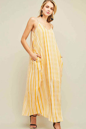 You're the Sunflower Striped Maxi Dress Front