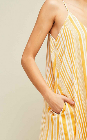 You're the Sunflower Striped Maxi Dress Detail