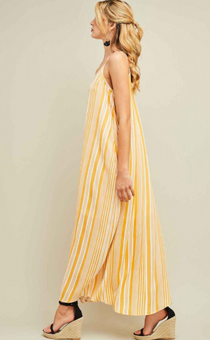 You're the Sunflower Striped Maxi Dress Product