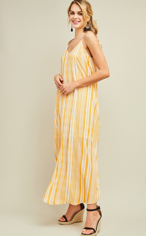 You're the Sunflower Striped Maxi Dress Profile