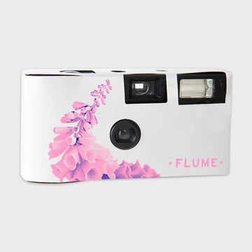 FLUME PINK FLOWER DISPOSABLE CAMERA