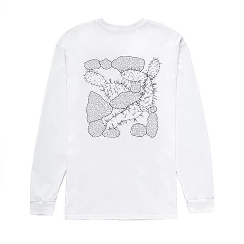 CACTUS WHITE L/SLEEVE T-SHIRT