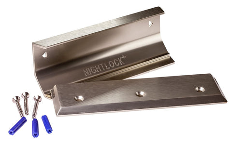 NIGHTLOCK Door Brace & Barricade - Brushed Nickel