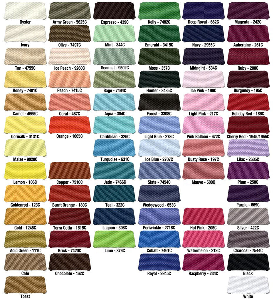 Fabric Color Chart With Names