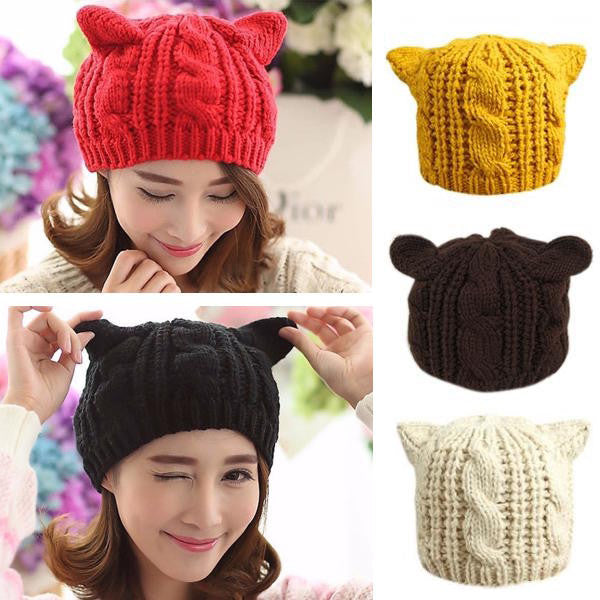Cat Ears Beanie (5 Colors) -50% OFF