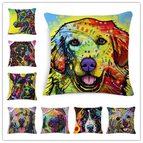 Designer Dog Art Pillow Covers (Series I)