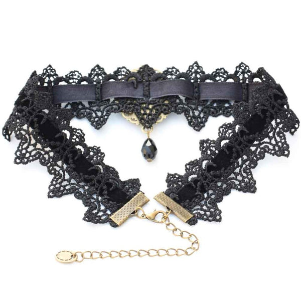 Vintage Crystal Lace Choker (13 Colors!) -50% OFF