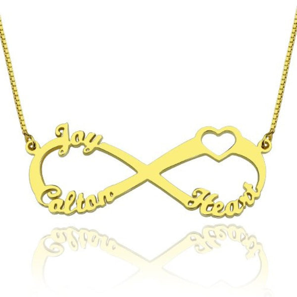 "Custom ""Infinite Love"" Family Necklace (3 Names) -50% OFF +FREE Shipping!"