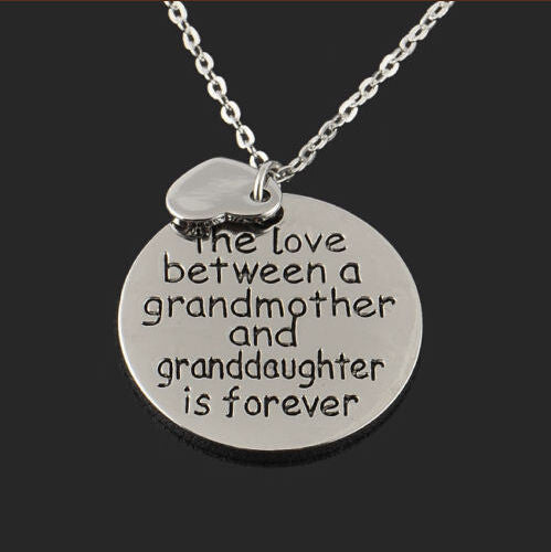 "FREE ""Granddaughter Love"" Vintage Engraved Necklace (Only pay shipping)"