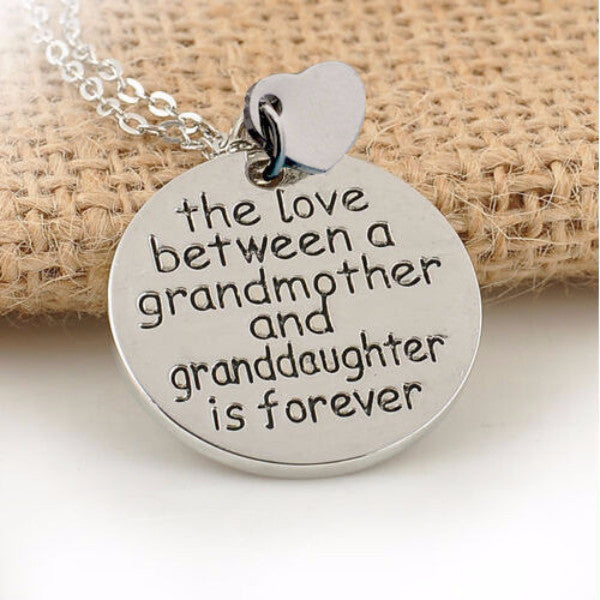 """Granddaughter Love"" Vintage Engraved Necklace"