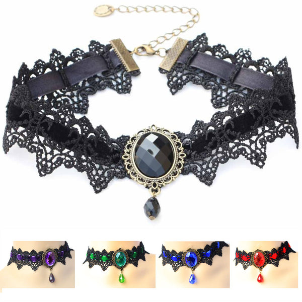 Vintage Crystal Lace Choker Giveaway (13 Colors!)