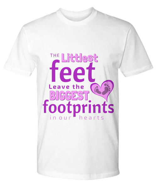 """Footprints in our Hearts"" T-shirt (Various Styles, Colors, & Sizes)"