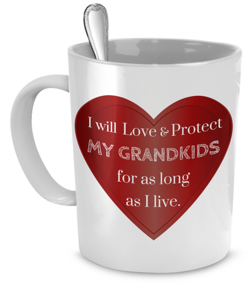 """Love & Protect"" Grandkids Custom Mug"