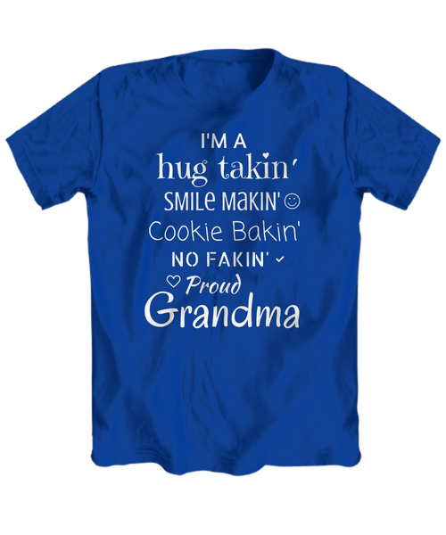 """I'm A ... Proud Grandma"" Custom T-Shirt (Various Colors & Sizes)"