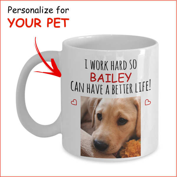 Personalized Pet Lover's Mug - Personalize for YOUR Pet!