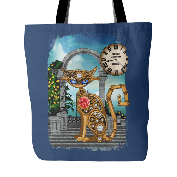 Steampunk Cat Tote Bag (5 Colors)