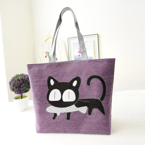 Cat Lovers Casual Tote Bag (5 Colors)