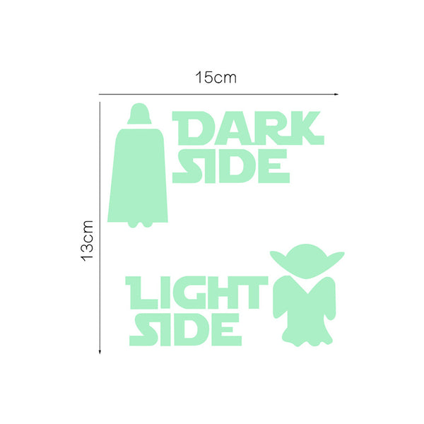 Light Side Dark Side Wall Sticker