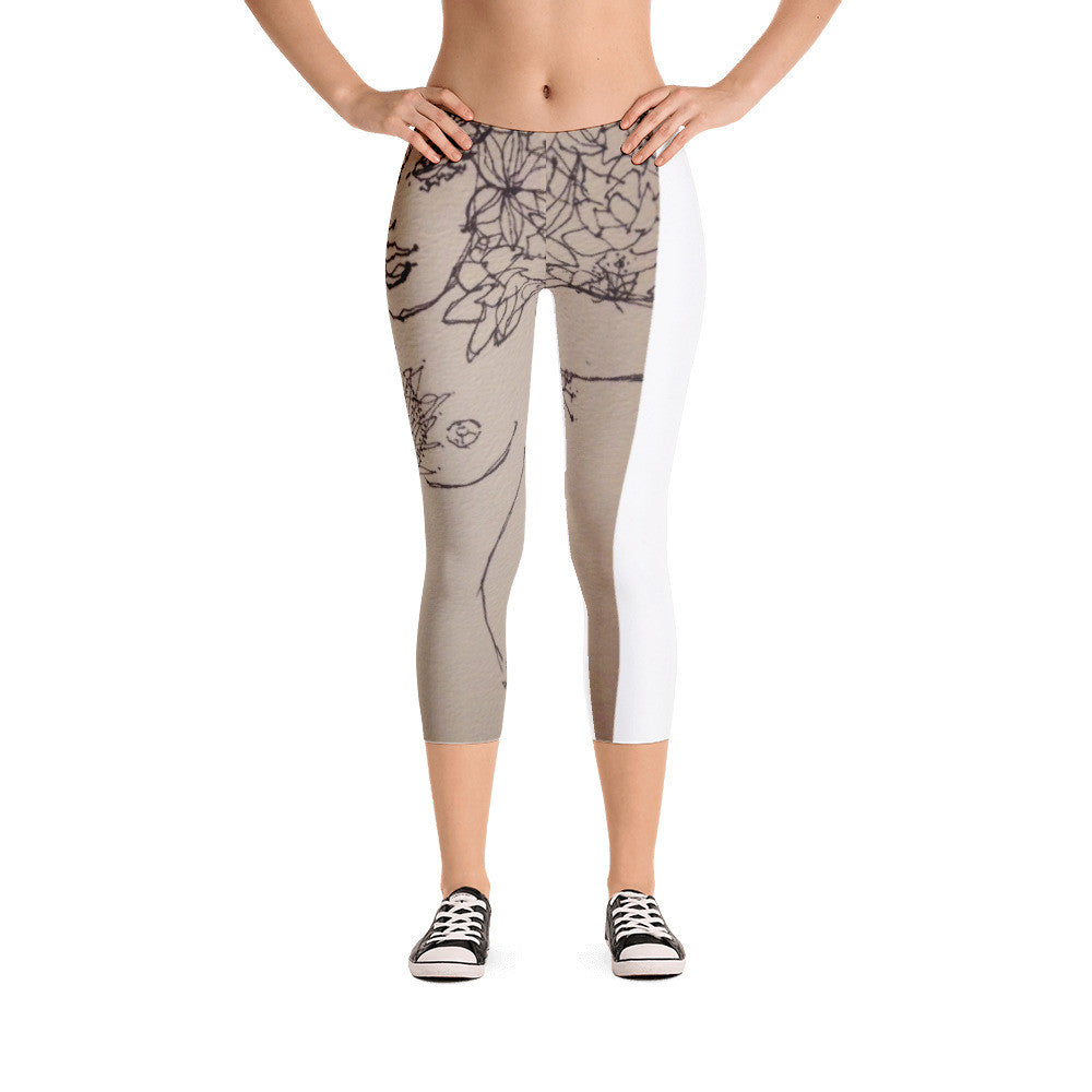 Flower Fairy Rejoicing Capri Leggings