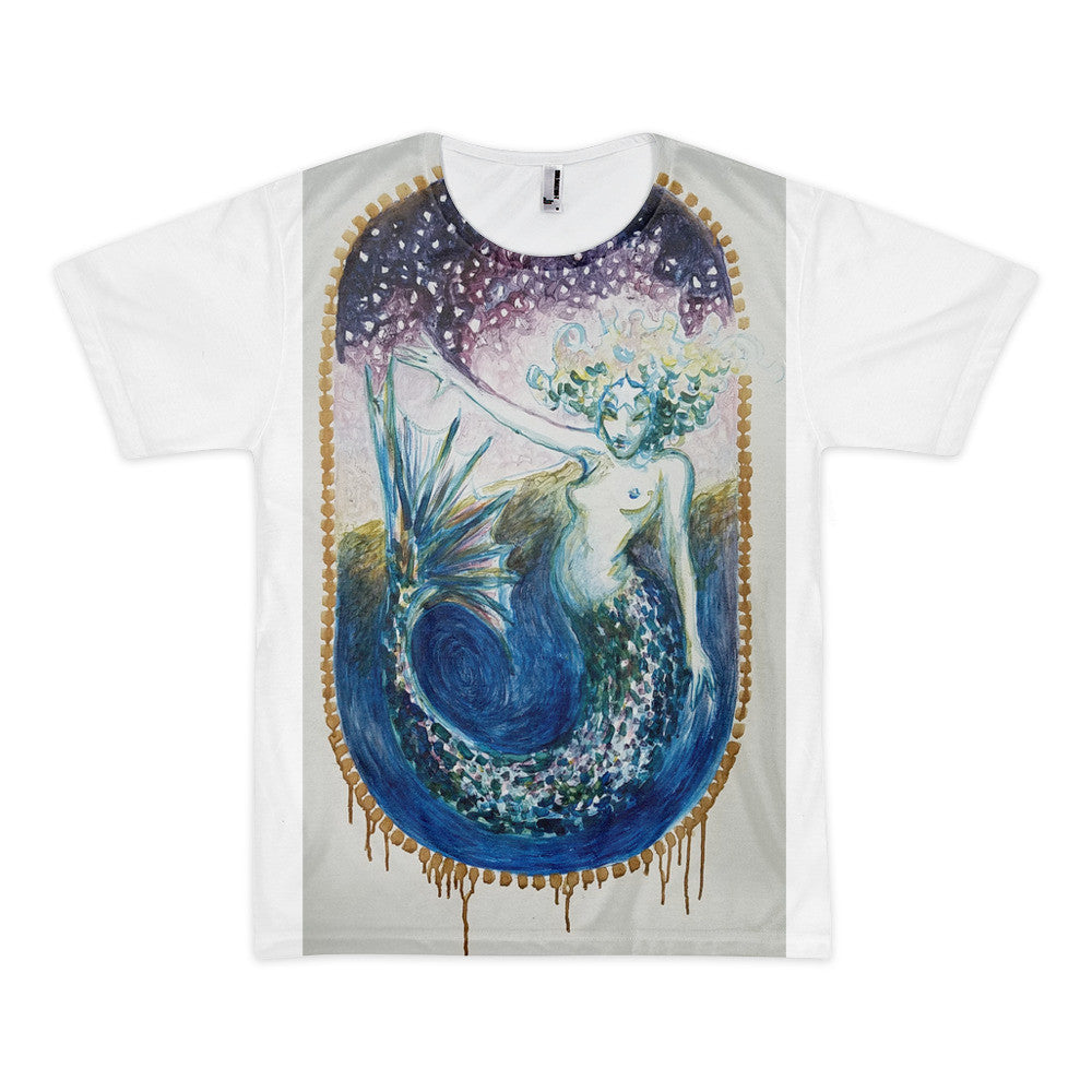 Evening Star Mermaid Short Sleeve Gender Full T-shirt (unisex)