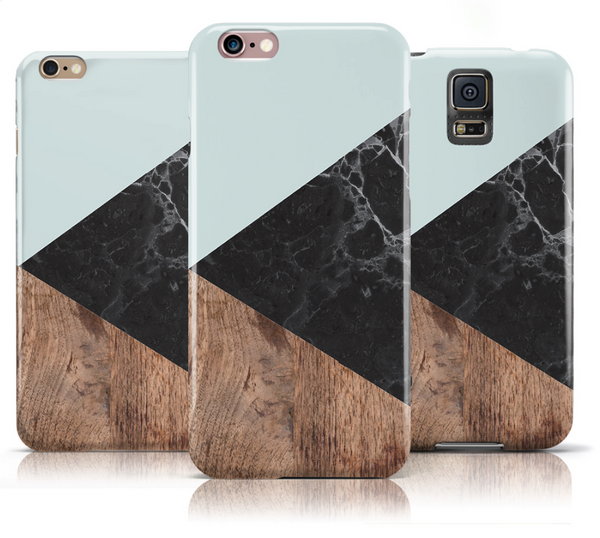 Black Marble and wooden texture iPhone 6s Case iPhone 6 Case - The Case Company