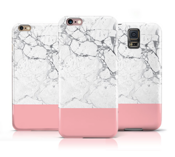 White Marble and Pink iPhone 6s Case iPhone 6 Case - The Case Company