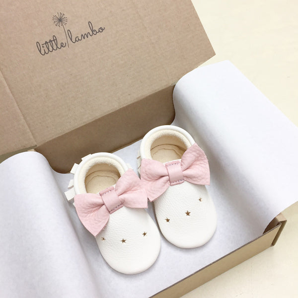 Make a wish-Little Lambo vegetable tanned baby moccasins