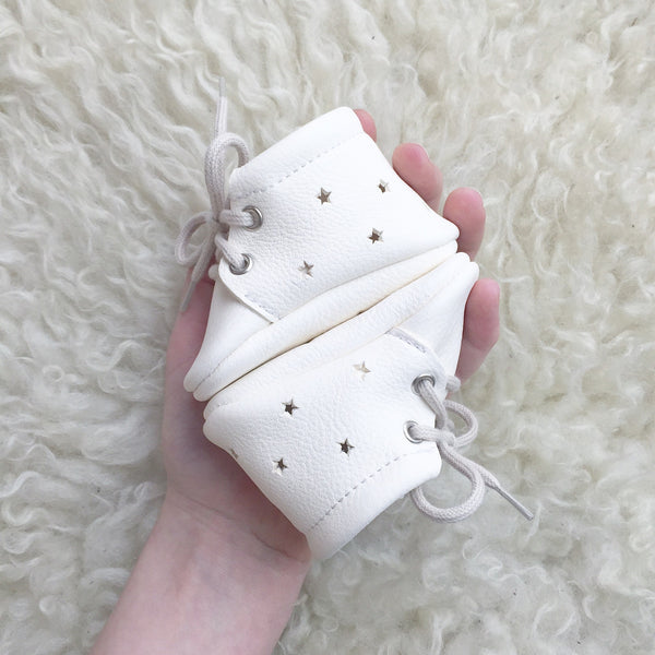 Milk Star Booties, Moccasins - Little Lambo