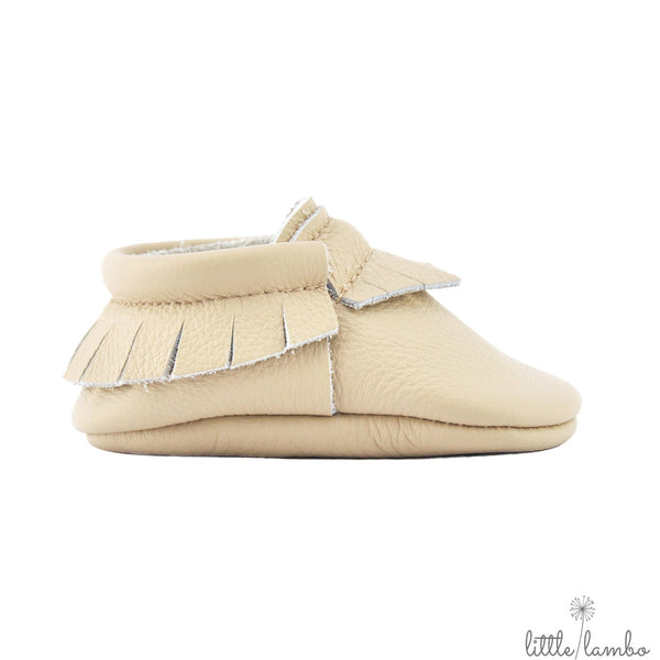 Latte - Little Lambo, first pair baby moccasins