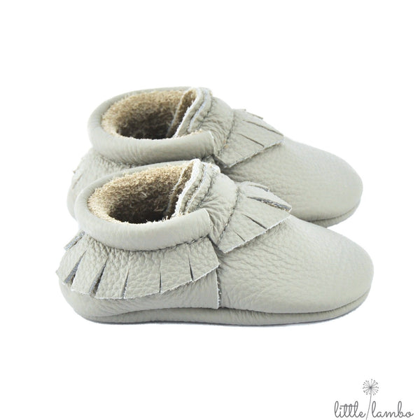Greystone - Little Lambo, first pair baby moccasins